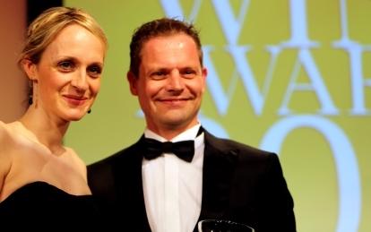 Corinna og Alexander Laible til uddeling af prisen bedste kollektion i Tyskland 2017