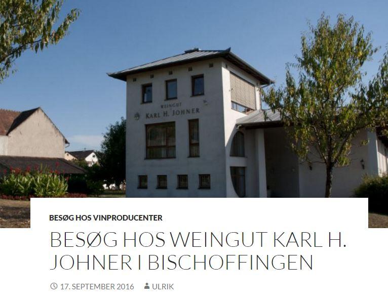 Tag på vinbesøg hos Karl H Johner i Kaiserstuhl