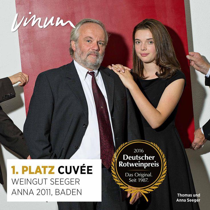 Weingut Seeger Badische Bergstraße Baden udnævnes til Tysklands bedste Cuveé rødvin med Cuveé AnnA 2011