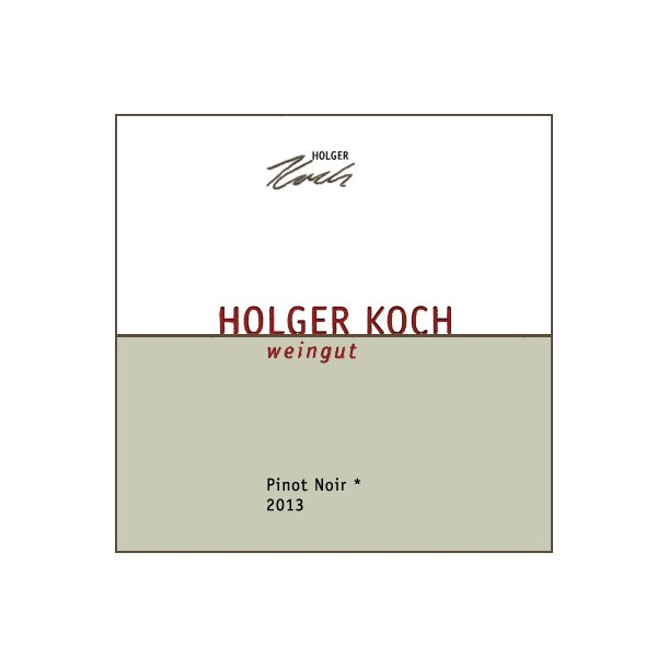 2013 Holger Koch Pinot Noir Selection * (RØD)