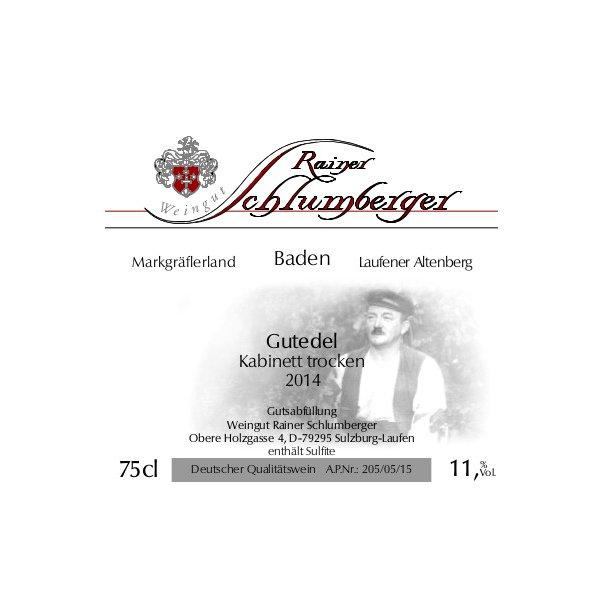 2014 Schlumberger Gutedel Kabinett Trocken (HVID)