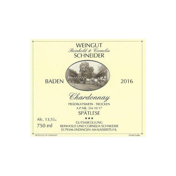 2016* Schneider Chardonnay Spätlese Trocken (HVID)