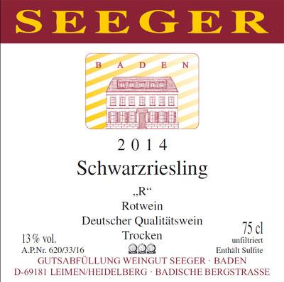Weingut Seeger - 2012 Schwarzriesling