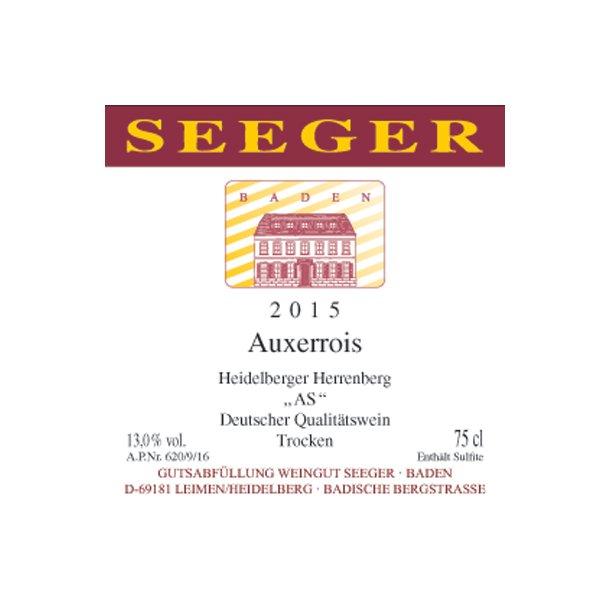 2016 Seeger Auxerrois